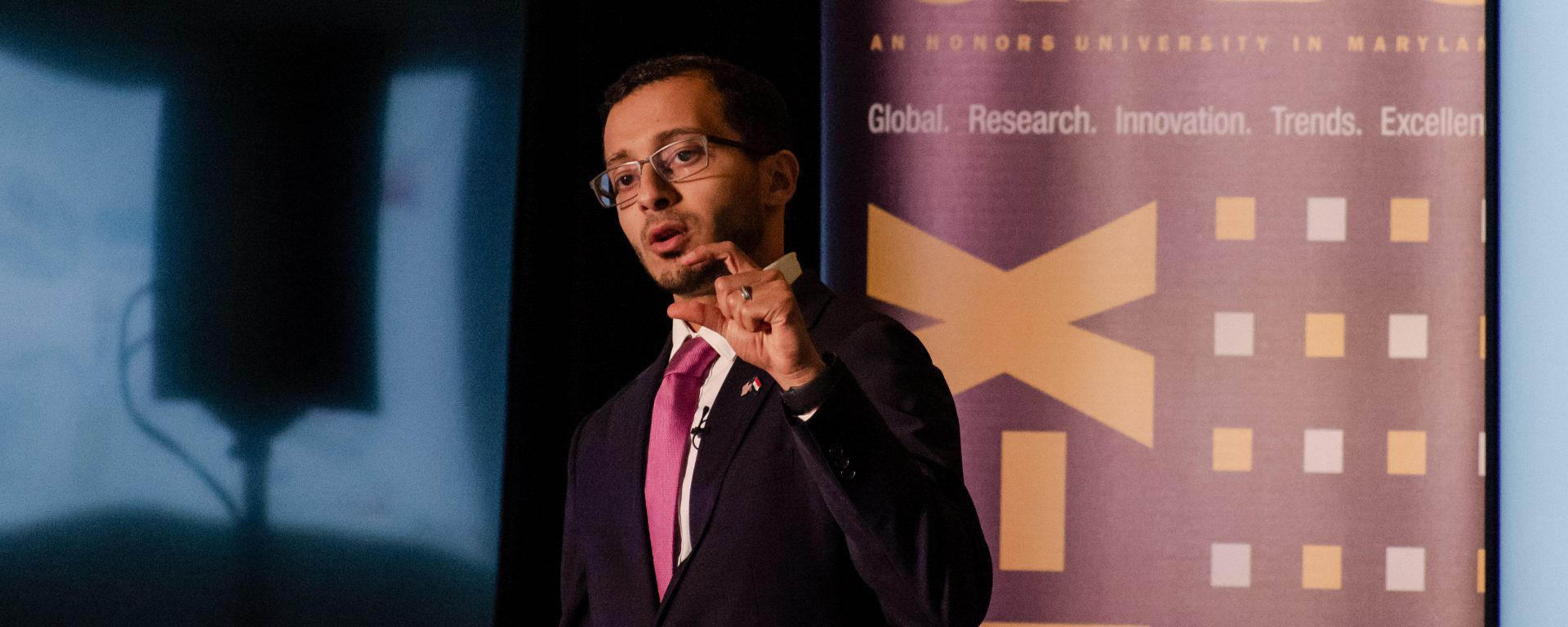 UMBC's Mustafa Al-Adhami wins national Three-Minute Thesis competition