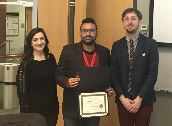 Graduate Student of the Month Manpreet Singh