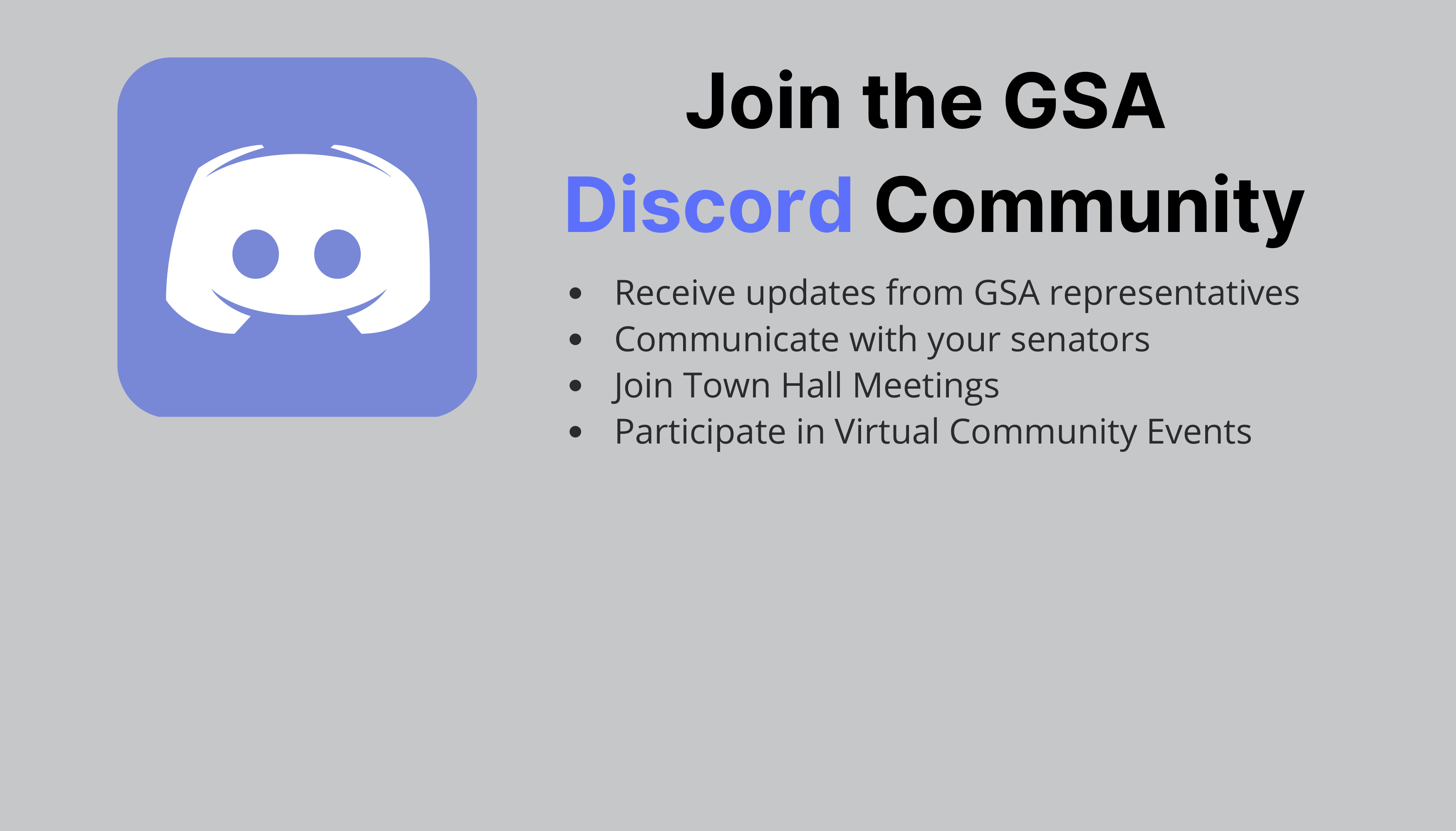 Join the GSA Discord Community